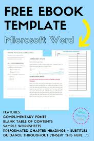 Free Book Writing Templates For Word Free Ebook Template Preformatted Word Document What Mommy Does 7