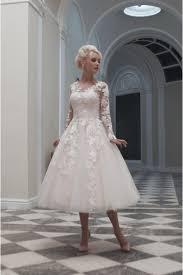 house of mooshki charlotte tea calf length short lace wedding