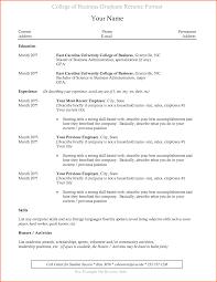 College Grad Resume Template Jospar