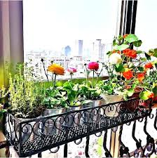 hanging plant stands outdoor hanging plant stands outdoor c iron flower balcony railing fence flower hanging