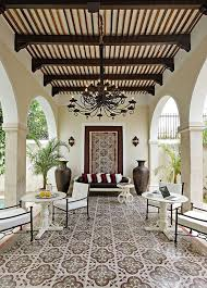spanish style patio furniture. spanish style outdoor space u2013 love the ceiling design with planks beams and corbels floor tile u2013wrought iron chandelier patio furniture t