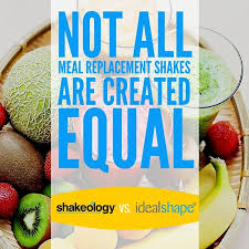 idealshape vs shakeology a plete meal replacement shake pare contrast idealshape