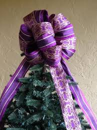Decorating A Christmas Tree With Ribbon  LoveToKnowPurple Christmas Tree Bows