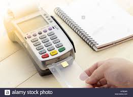 How Are Credit Card Payments Calculated Cashier Made A Payment In Store Via Edc Or Credit Card Terminal With