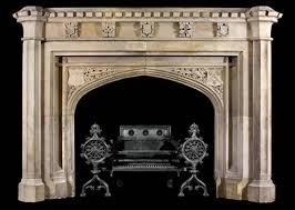 hand carved tudor gothic mantle model mfp174