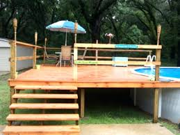 diy pool deck ideas pool above ground pool deck ideas with outdoor dining with umbrella above ground