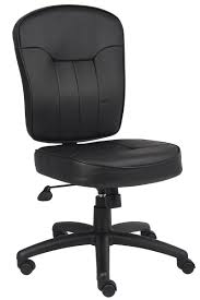 armless leather chairs. BOSS - Armless Mid-Back Leather Office Task Chair Chairs I