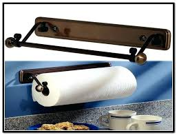 under the counter paper towel holders under cabinet mount paper towel holder oil rubbed bronze home