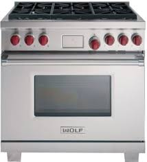 wolf gas range 36. Wolf DF366 - Stainless Steel With Red Knobs Gas Range 36 G