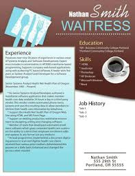 resume format sample waitress resume template sample simple resume  resume tip advice and interview other three resumes college taking example waitress resume