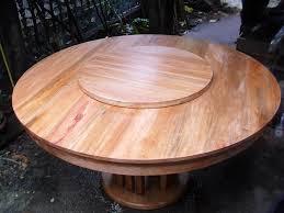 mahogany round table dining set with lazy susan