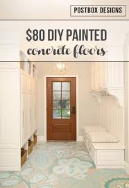 painted concrete floors80 Makeover How to Paint Your Ugly Concrete Floors  Postbox