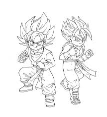 Small Picture Gohan Coloring Pages Super Buu Dragonball Z Anime Coloring Page