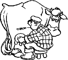 Small Picture Milking Cow Coloring Pages for Kids Color Luna