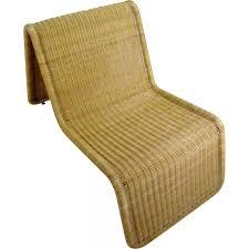 vintage wicker lounge chair by ikea 1970s