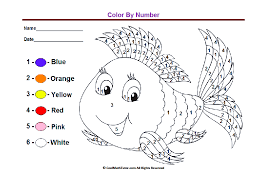 Lovely Color By Number Worksheets For Kindergarten You On Shapes ...