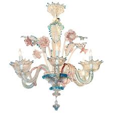 murano style glass chandelier lovely antique blue and pink glass chandelier for style murano