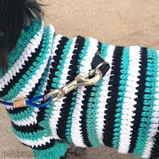 Dog Sweater Crochet Pattern Custom Crochet Dog Sweater Mellie Blossom