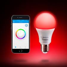 Where Can I Buy Coloured Light Bulbs Auraglow 9w Bluetooth Colour Changing Led Smart Light Bulb E27
