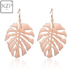 <b>XZP</b> Trendy Leaf <b>Earrings</b> for Women Charms Rose Gold Silver ...