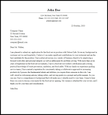 Cover Letter For A Server Professional Food Server Cover Letter Sample Writing Guide Cover
