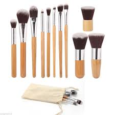 best professional makeup brush set. bamboo 11pcs professional makeup brush set best i