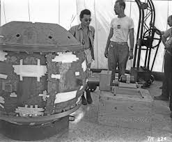 the scientists who pee plutonium nat geo education blog manhattan project scientists louis slotin and herb lehr help assemble the trinity ldquogadgetrdquo
