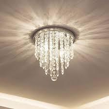 lifeholder mini chandelier crystal chandelier lighting 2 lights flush mount ceiling light h10 4 x w8 66 modern chandelier lighting fixture for