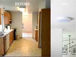 kichen lighting. Update Kitchen Lighting. Unbelievable How To Replace A Fluorescent Light With An Led Flush Mount Kichen Lighting