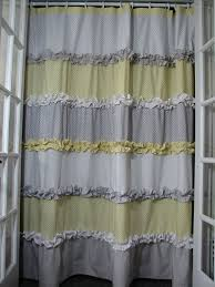 yellow and grey shower curtain by giulianadesign on