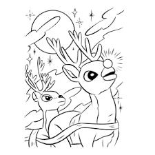 Leuk Voor Kids Rudolf Het Rendier Met De Rode Neus Kleurplaten