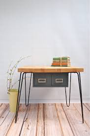 butcher block counter from IKEA + hairpin legs and make a dining room table