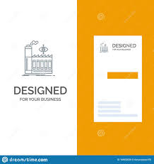 Industrial Visiting Card Design Mill Factory Business Smoke Grey Logo Design And Business
