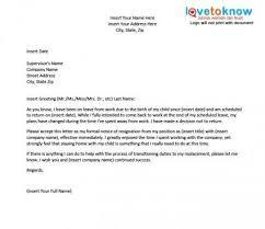 Pregnancy Resignation Letter Threeroses Us
