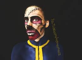 picture of fallout 3 ghoul mask makeup transformation