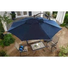 aluminum cantilever solar led offset patio umbrella in midnight