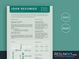 Creative Resume Templates Free Word Iris Blue Creative Resume Template Resumgo Com