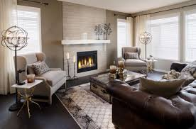 Living rooms with brown furniture White Walls View In Gallery Homedit Give Your Living Room An Elegant Look With Brown Leather Sofa