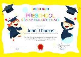Kindergarten Diploma Template Kindergarten Certificate Template