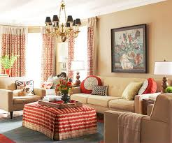 Country Cottage Living Room Ideas Interior HD Bold Red Accents Add Depth  And Character To The Neutral Walls And Furniture In This Living Room