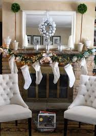 office christmas party favors. Decorations:Joyful Christmas Party Decor With Glitters And Fireplace Ornaments Behind White Tufted Chairs Joyful Office Favors