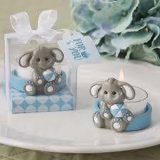 cute baby elephant with blue design tea light holder