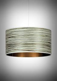 designer pendant lighting. Green Stripe Designer Drum Pendant, Contemporary Pendant Lighting For Hotels