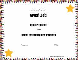 school certificates awards certificate template crayon border