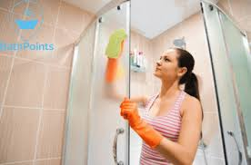 how to clean shower doors with baking