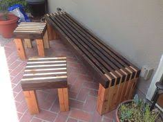 diy wood furniture projects. modern slat bench and side tables diy diy wood furniture projects
