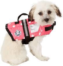 Paws Aboard Pink Polka Dot Dog Life Jacket Xx Small