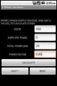 3 phase power calculator android apps on google play Power Formula For 3 Phase 3 phase power calculator screenshot power formula for 3 phase