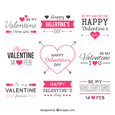 valentine day labels free vector