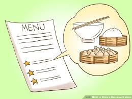 Make A Menu For A Restaurant How To Make A Restaurant Menu With Pictures Wikihow
